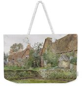Thatched Cottages And Cottage Gardens Weekender Tote Bag by John Fulleylove