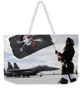 The 428th Fighter Squadron Buccaneer Weekender Tote Bag by Stocktrek Images