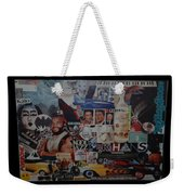 The 80 S Collage Weekender Tote Bag