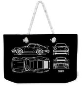 The 911 Turbo Blueprint Weekender Tote Bag