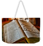 The Accountant's Ledger Weekender Tote Bag by Paul Ward