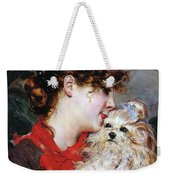 The Actress Rejane And Her Dog Weekender Tote Bag