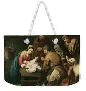 The Adoration Of The Shepherds Weekender Tote Bag by Bartolome Esteban Murillo