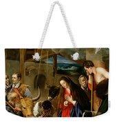 The Adoration Of The Shepherds Weekender Tote Bag by Fray Juan Batista Maino or Mayno