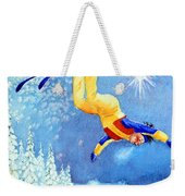 The Aerial Skier 18 Weekender Tote Bag