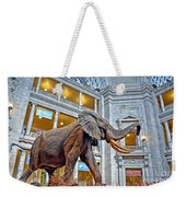 The African Bush Elephant In The Rotunda Of The National Museum Of Natural History Weekender Tote Bag