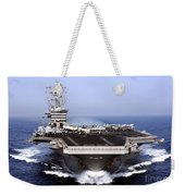 The Aircraft Carrier Uss Dwight D Weekender Tote Bag by Stocktrek Images