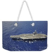 The Aircraft Carrier Uss Nimitz Weekender Tote Bag