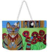 the Alamo Cat Weekender Tote Bag