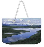 The Alaska Range Reflecting In A Lake Weekender Tote Bag