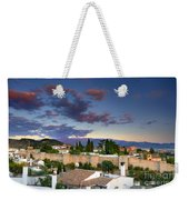 The Alhambra Palace And Albaicin At Sunset Weekender Tote Bag