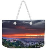 The Alhambra And Granada City Weekender Tote Bag