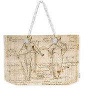 The Allegorical Figures Of Reason And Wisdom  Weekender Tote Bag