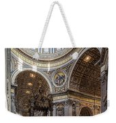 The Altar And Dome In St Peter's Basilica Weekender Tote Bag