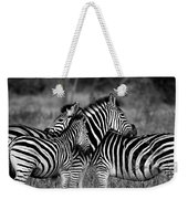 The Amazing Shot Of Zebra Weekender Tote Bag