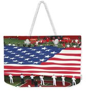 The American Flag Weekender Tote Bag by Allen Beatty