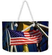 Tribute To The American Flag Oil Industry Weekender Tote Bag