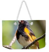 The American Redstart Weekender Tote Bag