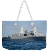 The Amphibious Transport Dock Ship Uss Weekender Tote Bag