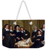 The Anatomical Lesson Of Professor Frederik Ruysc Weekender Tote Bag