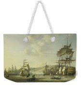 The Anglo Dutch Fleet In The Bay Of Algier Weekender Tote Bag