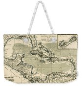 The Antilles And The Gulf Of Mexico Weekender Tote Bag by Guillaume Raynal