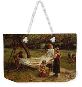 The Apple Gatherers Weekender Tote Bag by Frederick Morgan