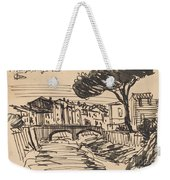 The Arno In The Evening, Florence Weekender Tote Bag