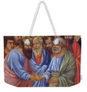 The Arrival Of The Apostles To The Virgin Fragment 1311 Weekender Tote Bag