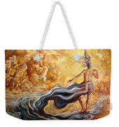 The Arrival Of The Goddess Of Consciousness Weekender Tote Bag
