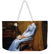 The Artist Wife And His Setter Dog 1889 Weekender Tote Bag