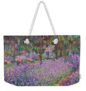 The Artists Garden At Giverny Weekender Tote Bag by Claude Monet
