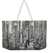 The Aspen Forest In Black And White  Weekender Tote Bag