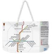 The Atlanta Pubway Map Weekender Tote Bag