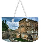 The Back Of The Pitti Palace In Florence Weekender Tote Bag