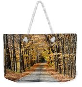 The Back Road In Autumn Weekender Tote Bag