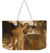 The Balcony, Spain Two Nude Bathers Standing On A Wharf Weekender Tote Bag