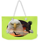 The Bald Eagle 2 Weekender Tote Bag