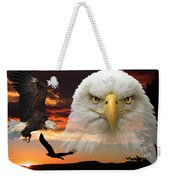 The Bald Eagle Weekender Tote Bag