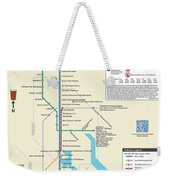 The Baltimore Pubway Map Weekender Tote Bag