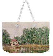 The Banks Of The Canal At Moret Sur Loing Weekender Tote Bag