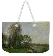 The Banks Of The Oise Weekender Tote Bag
