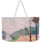 The Banks Of The Seine At Neuilly 1886 Weekender Tote Bag