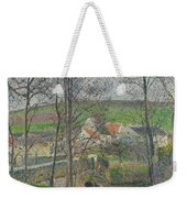 The Banks Of The Viosne At Osny In Grey Weather, Winter Weekender Tote Bag
