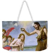 The Baptism Of Christ Weekender Tote Bag by Ottavio Vannini