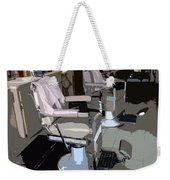 The Barber's Chairs Weekender Tote Bag