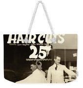 The Barbershop Window Weekender Tote Bag