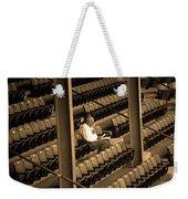The Baseball Fan II Sepia Weekender Tote Bag