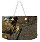 The Bath - American Goldfinch - Spinus Tristis Weekender Tote Bag