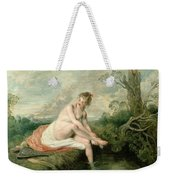 The Bath Of Diana Weekender Tote Bag